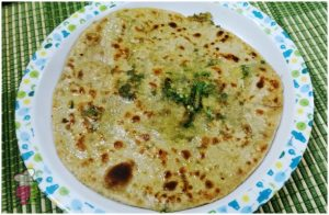 Spinach Paneer Stuffed Paratha