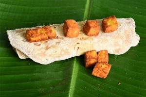 hariyali tofu rotis