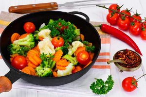 vegetable with cauliflower carrots and beans